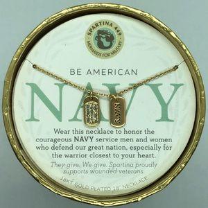 SLV Navy Dog Tags Necklace